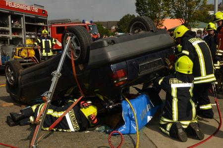 Elm-Feuerw-Unfall-Übung
